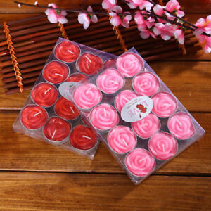 Image Is Loading Rose Flower Candles Wedding Birthday Decor Gift Romantic