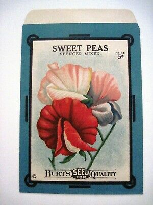 1898 Maule/'s Sweet  Peas Vintage Flowers Seed Packet Advertisement Poster