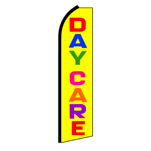 Daycare Yellow /& Multi Swooper Flag