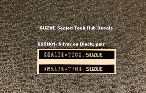 1 pair SUZUE SEALED TECH Old School Hub Decals