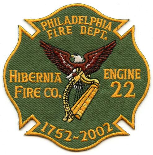 "Philadelphia Pennsylvania Fire Department 4/"" Patch Hibernia Company Engine 22"
