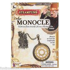 Steam Punk Monocle On Chain Victorian Science Fiction Gentleman's Fancy Dress