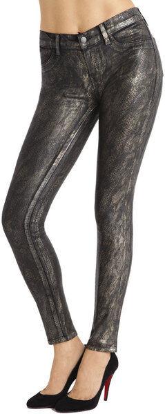 J BRAND 901 golden Snake Print Super Skinny Jeans Sz 24 27 30  242 NEW