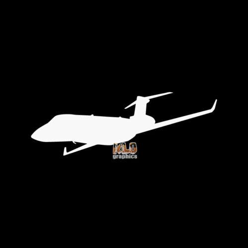 GULFSTREAM G280 PILOT in FLIGHT Vinyl Sticker Aviation BUSINESS JET TRAVEL