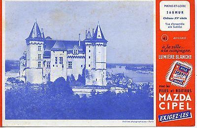 Liberaal Buvard Publicitaire / Piles Madza / Chateau De Saumur Om Te Genieten Van Een Hoge Reputatie Op De Internationale Markt