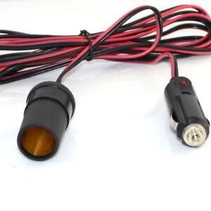 12V-Car-Cigarette-Lighter-3-Meter-Extension-Cable-Socket-Plug-Charger-Power-Cord