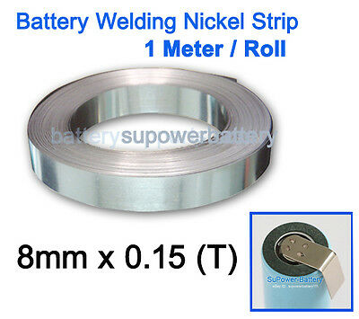 5m  Pure Ni Plate Nickel Strip Tape For Li 18650 Battery Spot Welding 8mm ODCA