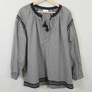 SEED-HERITAGE-Womens-Gingham-Blouse-Top-Size-AU-14-or-US-10