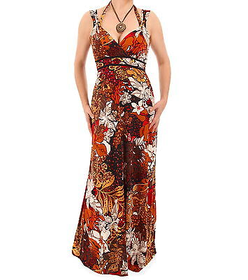 New Strappy V Neck Jungle Print Maxi Dress