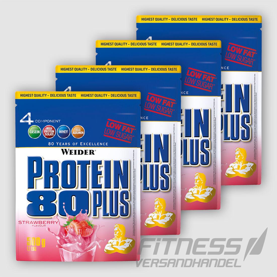 ( /kg) Weider 4 x 500g Beutel Protein 80 80 Protein Plus Eiweiß + Top - Bonus 0bd7dd