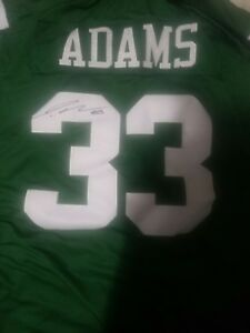 competitive price 2e1b6 4b46b Details about JAMAL ADAMS autographed #33 NFL JETS JERSEY