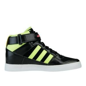 Image is loading Womens-ADIDAS-FORUM-UP-Black-Lime-Trainers-M22266 d3ba75504d