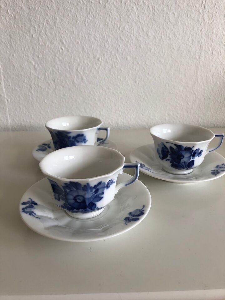 Porcelæn, Blå blomst mokkakopper, Royal Copenhagen