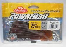 "Berkley 4"" Motor Oil Power Worm Powerbait Soft Plastic Fishing Bait Lures"