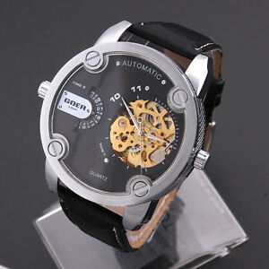 GOER-Automatic-Mechanical-Transparent-Skeleton-Multiple-Time-Zone-Wrist-Watch