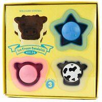 William Sonoma Ice Cream Sandwich Molds Animals Pig Cow Star IceCream