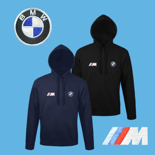 BMW M Power Sweat Shirt Capuche Logo Brodé Auto Voiture Moto Hoodie Homme