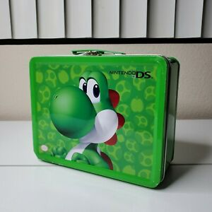 Yoshi-Nintendo-DS-Metal-Tin-Lunchbox-Collectible-Carrying-Case-Green-Super-Mario