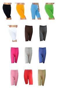 "Cycling Running Gym Yoga Long Above Knee Length 8"" Quality Cotton Short Leggings"