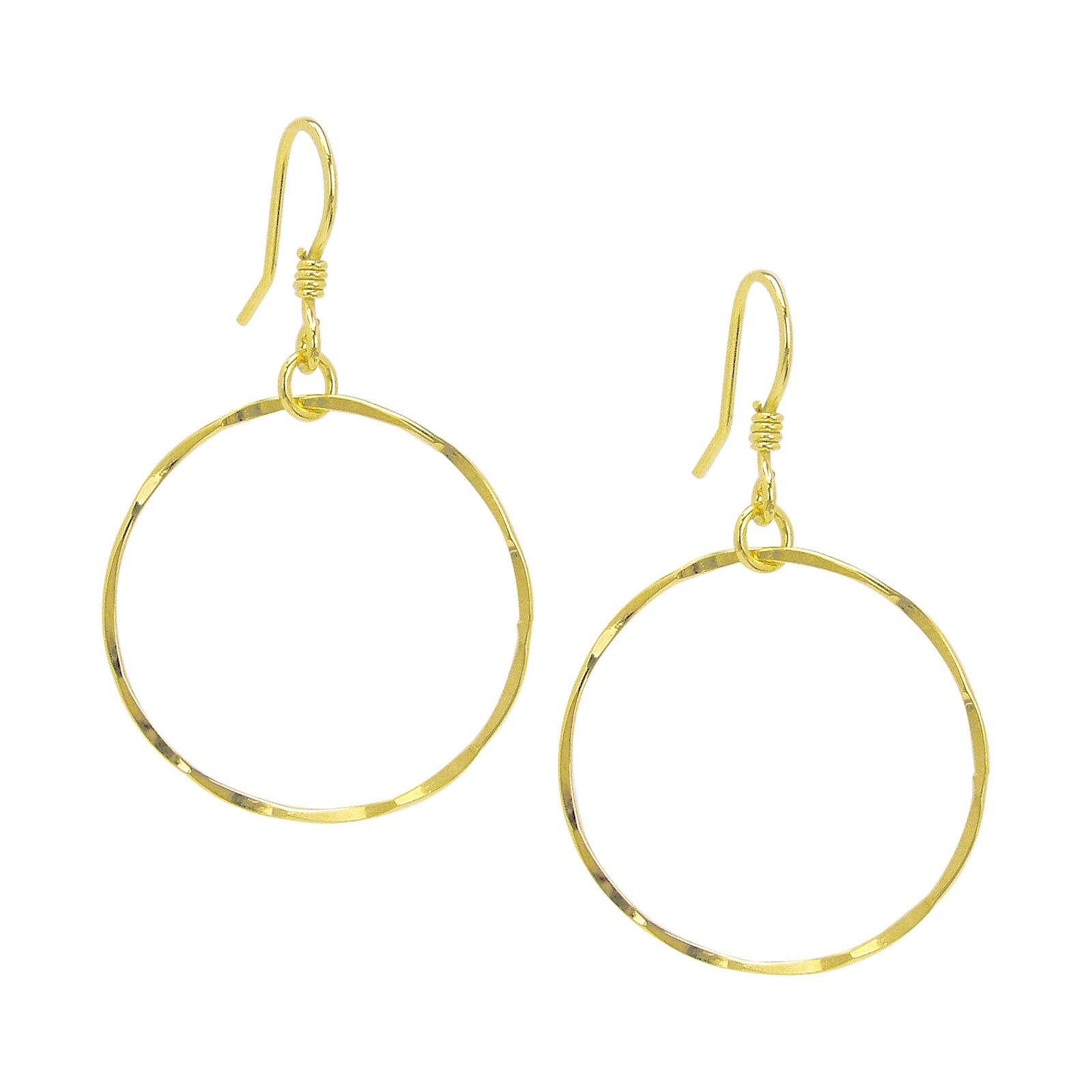 Charlene K Front Facing Hoop Earrings in gold Vermeil