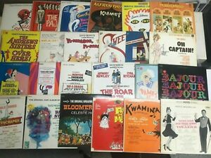 25-Musical-Broadway-Cast-Show-Soundtrack-NM-Records-LOT-Promises-Bubbling-Game
