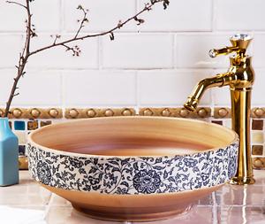Stylish Vintage Flora Badezimmer Cloakroom Ceramic Counter Wash Basin Sink Bowl