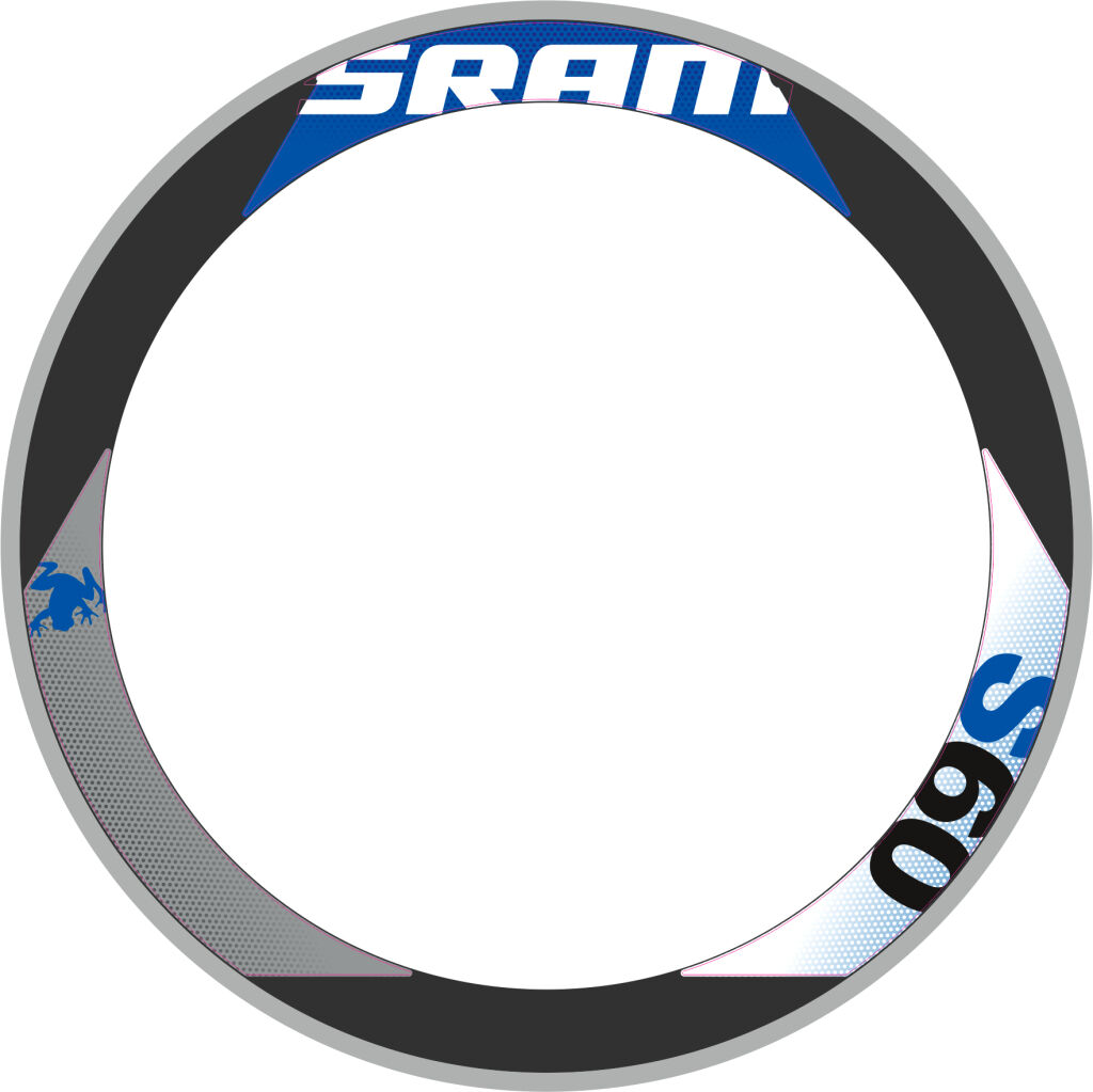 SRAM S60 RIM DECAL SET  FOR TWO WHEELS blueeE