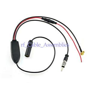 universal dab fm am car antenna aerial splitter cable. Black Bedroom Furniture Sets. Home Design Ideas