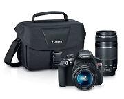 Canon Rebel T6 DSLR Premium Bundle Kit with 18-55mm 75-300mm Lenses & Canon Case