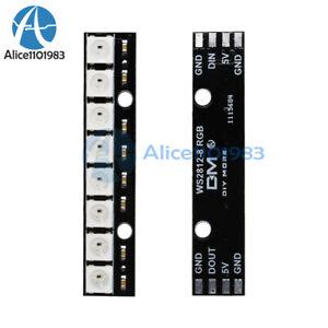 8 Bit WS2812 5050 RGB LED Driver Development Board Arduino DIY Kits 5 PCS