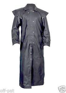 Cuir Equitation Homme Véritable des Steampunk plupart tailles Noir Trench En La Pour xHwYqIId