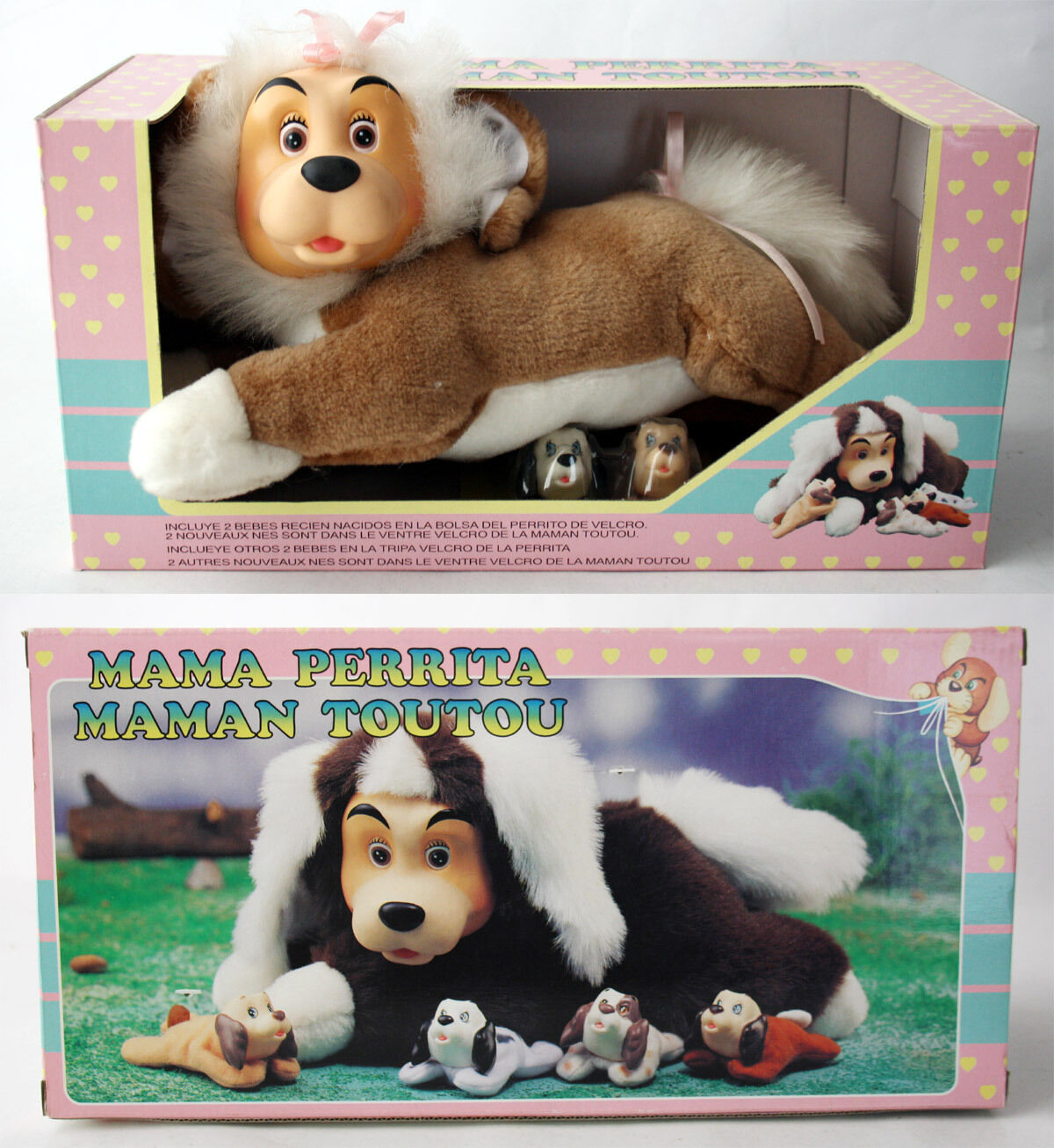 VERY RARE VINTAGE 90'S POUND PUPPIES MAMA PUPPY KOKIDO NEW MISB