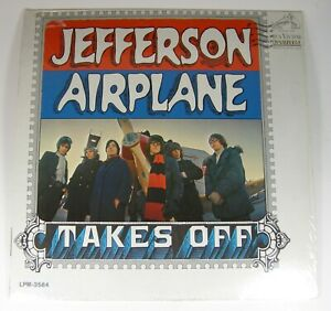 Jefferson-Airplane-TAKES-OFF-1966-Album-LPM-3584-Stereo-LSP-3584-Shrink-Wrap-VG