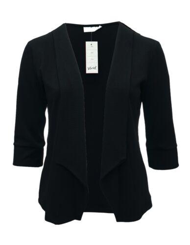 Ladies 16-26 New Light Blazer Open Jacket Top Navy Blue Bnwt Womens *LICK*
