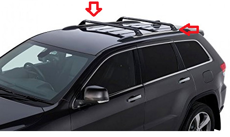 Perfect 2011 2018 OEM Jeep Grand Cherokee Sport Utility Roof Bars Mopar 82212072AD