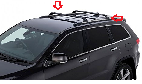 Jeep Grand Cherokee Roof Rack Cross Rail Bars Oem Mopar 82212072ac 2011 2017 Ebay