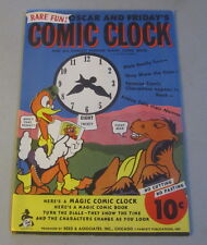 Old Vintage 1940's - COMIC CLOCK - Cardboard TOY SET - Oscar & Friday Characters