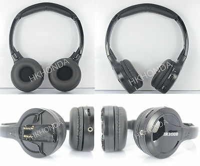 2x Wireless IR For Chevrolet DVD Headphones Quality Roof headrest Sound Headsets