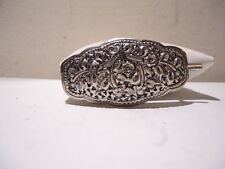 VINTAGE STERLING SILVER BARRETTE HAIR FASHION JEWELRY