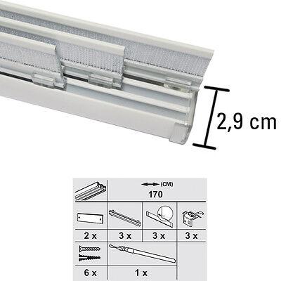 Gardinia Flächenvorhangschiene Komfort Komplett Set 3-5 läufig Schiebegardine