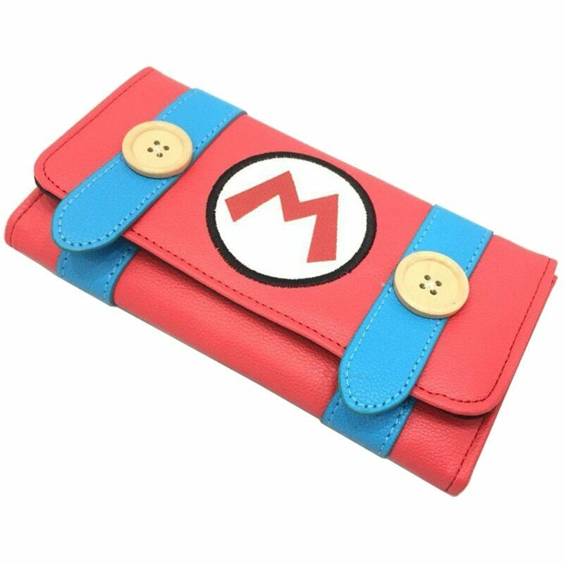 Lot Game Super Mario Long Wallets Woman Lady Girl Day Clutch Anime Coin Purse