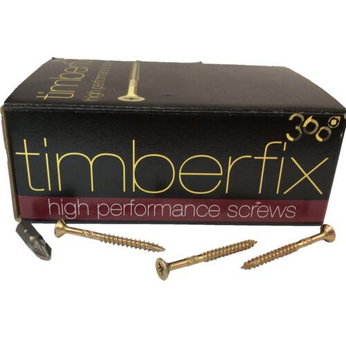 8g 4mm x 50mm PREMIUM CUTTER THREAD WOOD TIMBER SCREWS POZI CSK TIMBERFIX 360
