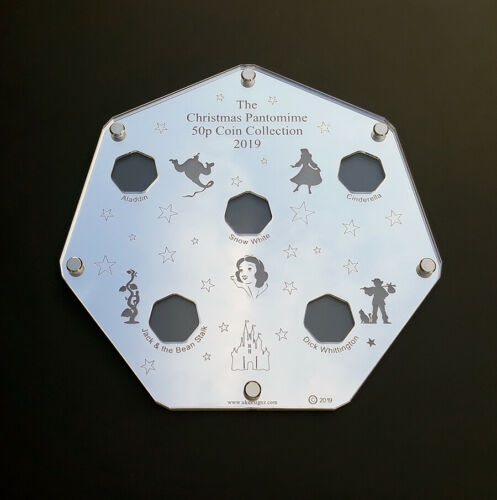 The great british coin hunt Disneys Patomime 50p coin collection display case