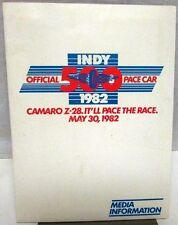 1982 Chevy Camaro Indianapolis 500 Pace Car Press Kit Z28 S-10 Suburban Pickup