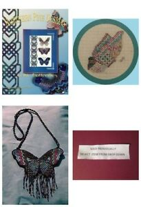 Northern-Pine-Butterfly-Dragonfly-Canvaswork-Chart-Your-Choice-Linda-Lachance