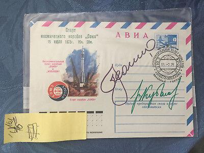 (#161)raumfahrt Beleg Sehr Selten, Von Astp Mit 2 Orig. Autogrammen Kosmonauten