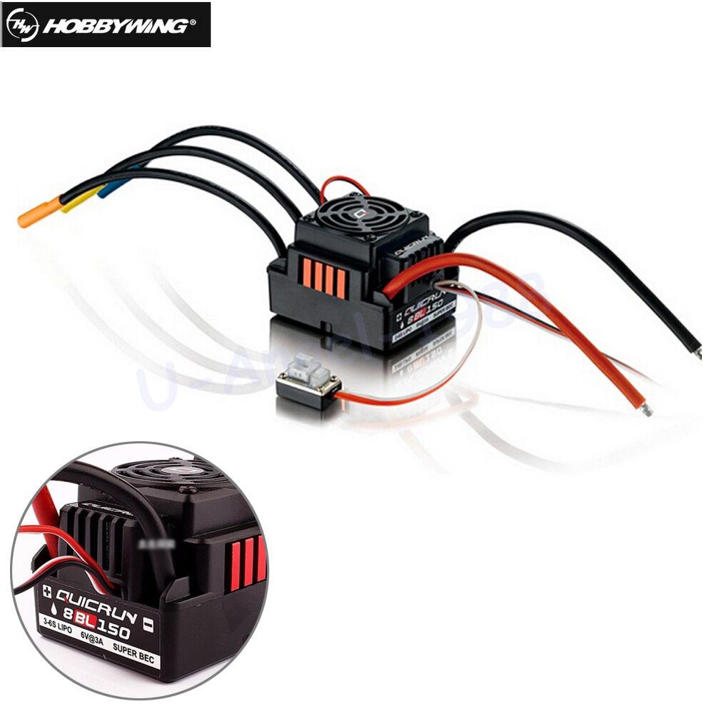 Hobbywing Quicrun 8BL150 sin escobillas Impermeable Sensorless 150A Esc Rock Crawler
