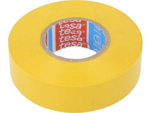 2x 53988-15//10-YL électriquement isolée Ruban PVC 15 mm L10m jaune TESA