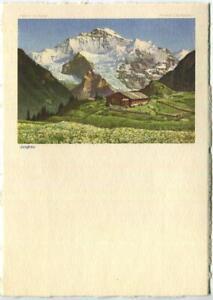 VINTAGE-JUNGFRAU-BERNESE-ALPS-SWITZERLAND-BERN-VALAIS-LITHOGRAPH-COLOR-PRINT-A