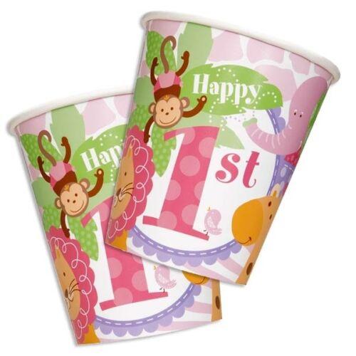 recipientes para bebidas a la fiesta cumpleaños Girl 260ml Vasos de fiesta 1 8 unid braguitas